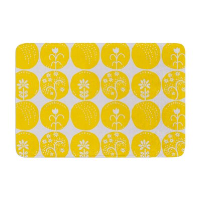 Anneline Sophia Dotty Papercut Circles Memory Foam Bath Rug Color: Yellow