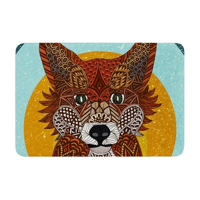 Art Love Passion Colored Fox Memory Foam Bath Rug
