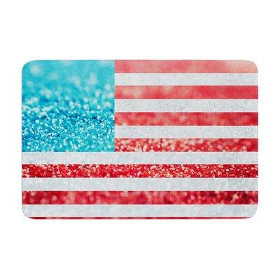 Beth Engel Glitter Flag Memory Foam Bath Rug