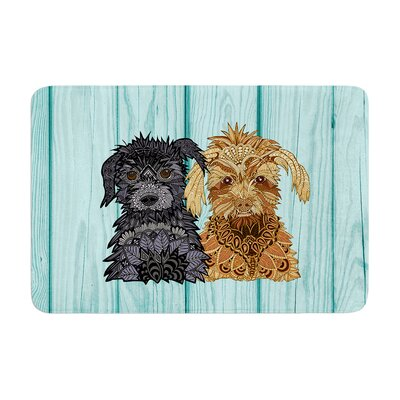 Art Love Passion Daisy and Gatsby Abstract Puppies Memory Foam Bath Rug