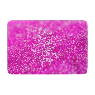 Beth Engel Born with Glitter Sparkle Memory Foam Bath Rug