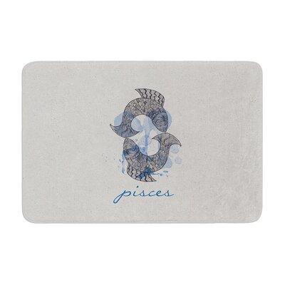 Belinda Gillies Pisces Memory Foam Bath Rug