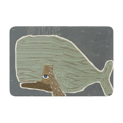 Bri Buckley Whale Memory Foam Bath Rug