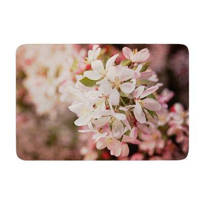 Angie Turner Apple Blossoms Flower Memory Foam Bath Rug