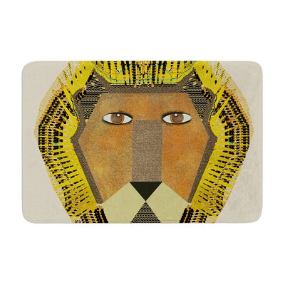 Bri Buckley Lion Memory Foam Bath Rug