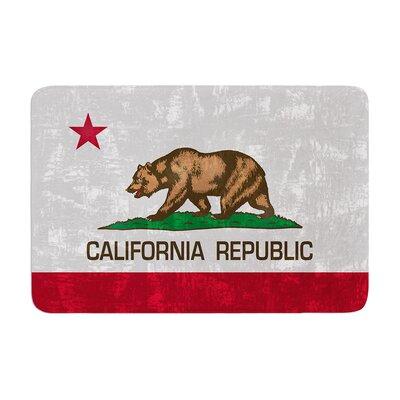 Bruce Stanfield California Flag Memory Foam Bath Rug