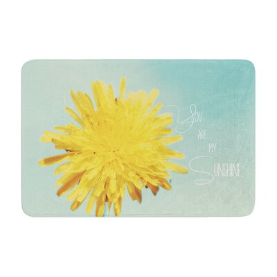 Beth Engel You Are My Sunshine Flower Memory Foam Bath Rug