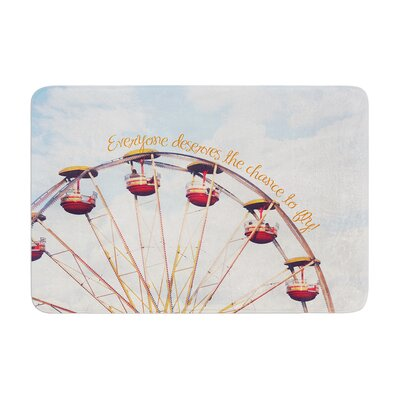Beth Engel the Chance to Fly Ferris Wheel Memory Foam Bath Rug