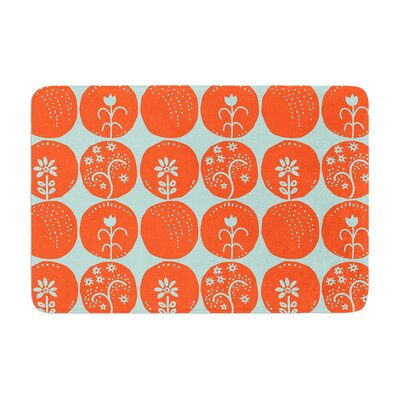 Anneline Sophia Dotty Papercut Circles Memory Foam Bath Rug Color: Orange