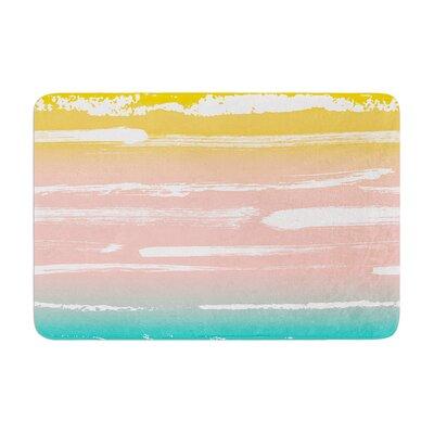 Anneline Sophia Painted Stripes Memory Foam Bath Rug Color: Peach