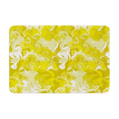 Anneline Sophia Marbleized Memory Foam Bath Rug Color: Gold