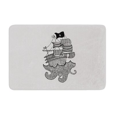 Belinda Gillies Ships Ahoy Nautical Memory Foam Bath Rug