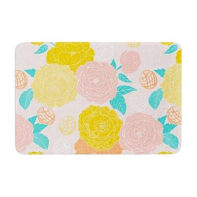 Anneline Sophia Peonies Memory Foam Bath Rug Color: Yellow/Pink