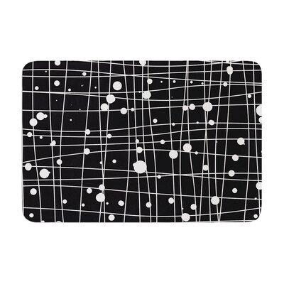 Budi Kwan Woven Web Mono Memory Foam Bath Rug Color: Black, Size: 17W x 24L