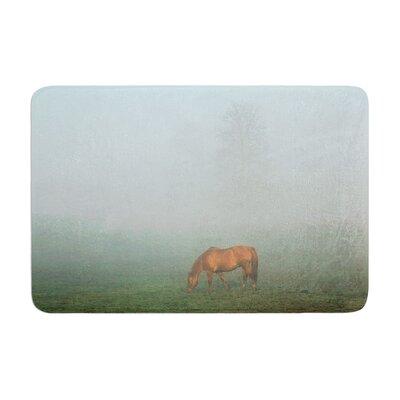 Angie Turner Horse in Fog Memory Foam Bath Rug