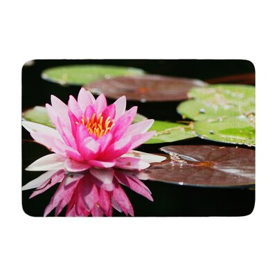 Angie Turner Water Lily Memory Foam Bath Rug