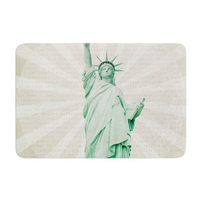 Catherine McDonald the Lady Statue of Liberty Memory Foam Bath Rug