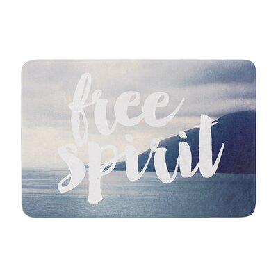 Catherine McDonald Free Spirit Coastal Typography Memory Foam Bath Rug