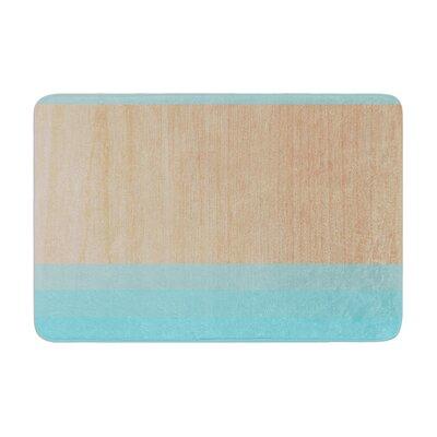 Brittany Guarino Art Wood Memory Foam Bath Rug Color: Aqua