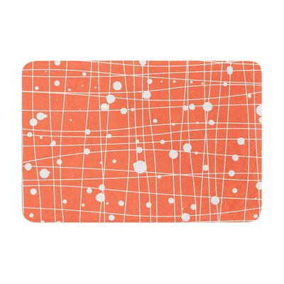 Budi Kwan Woven Web Mono Memory Foam Bath Rug Color: Orange, Size: 24W x 36L