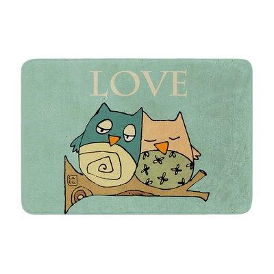 Carina Povarchik Lechuzas Love Owls Memory Foam Bath Rug
