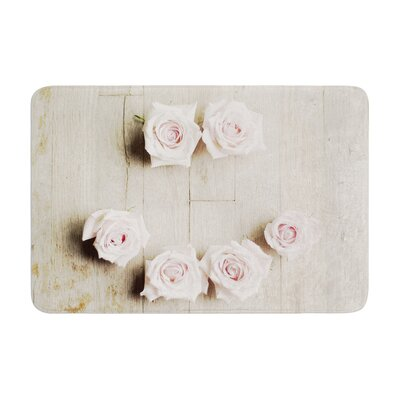 Cristina Mitchell Smile Wood Roses Memory Foam Bath Rug