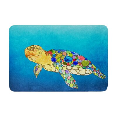 Catherine Holcombe Bubbles Turtle Memory Foam Bath Rug