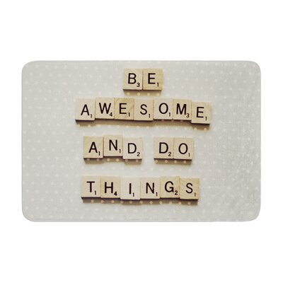 Cristina Mitchell Be Awesome and Do Things Wooden Letters Memory Foam Bath Rug