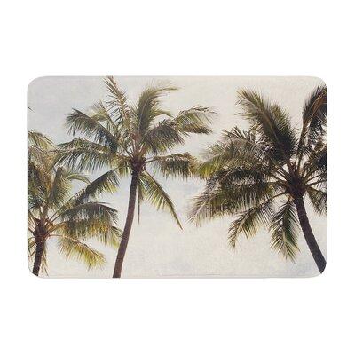Catherine McDonald Boho Palms Coastal Trees Memory Foam Bath Rug