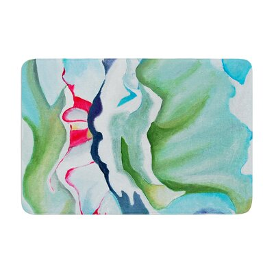 Cathy Rodgers Peony Shadows Flower Memory Foam Bath Rug