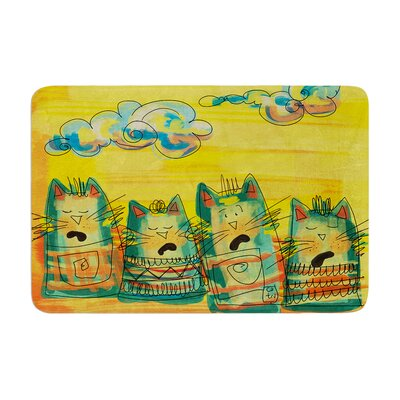 Carina Povarchik Singing Cats Memory Foam Bath Rug