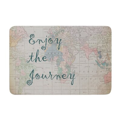 Catherine Holcombe Journey World Map Memory Foam Bath Rug