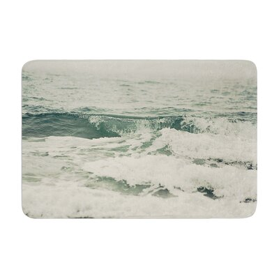 Cristina Mitchell Crashing Waves Ocean Memory Foam Bath Rug