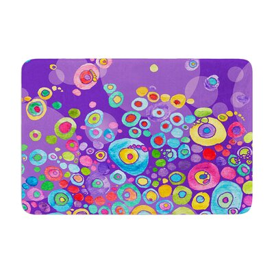 Catherine Holcombe Inner Circle Memory Foam Bath Rug Color: Purple