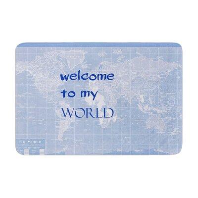 Catherine Holcombe Welcome to My World Indigo Memory Foam Bath Rug Color: Indigo