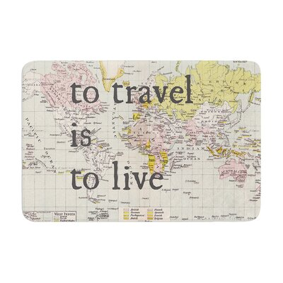 Catherine Holcombe to Travel Is to Live Color Map Memory Foam Bath Rug
