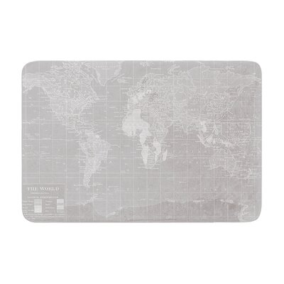Catherine Holcombe the Old World Memory Foam Bath Rug Color: Gray, Size: 24W x 36L