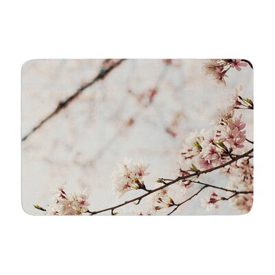 Catherine McDonald Japanese Cherry Blossom Memory Foam Bath Rug