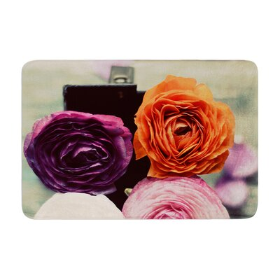 Cristina Mitchell Four Kinds of Beauty Roses Memory Foam Bath Rug