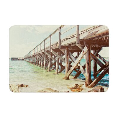 Debbra Obertanec on the Pier Beach Memory Foam Bath Rug