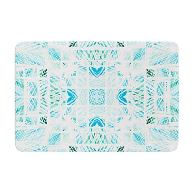 Danii Pollehn Scandanavian Square Memory Foam Bath Rug Color: Blue Teal