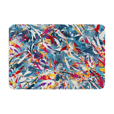 Danny Ivan Excited Colours Abstract Memory Foam Bath Rug