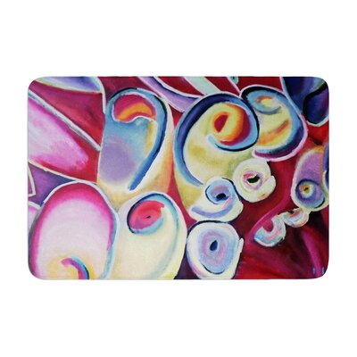 Cathy Rodgers Groovy Flowers Memory Foam Bath Rug