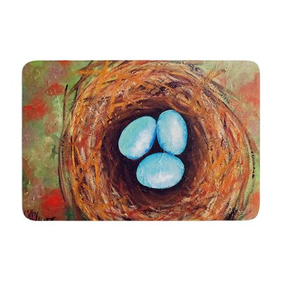 Cathy Rodgers Robins Eggs Memory Foam Bath Rug