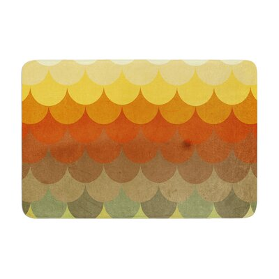 Danny Ivan Half Circle Waves Color Memory Foam Bath Rug