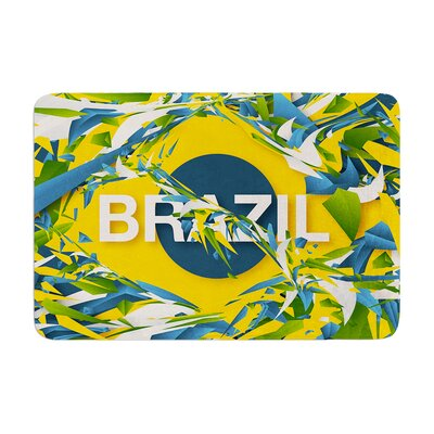 Danny Ivan Brazil World Cup Memory Foam Bath Rug