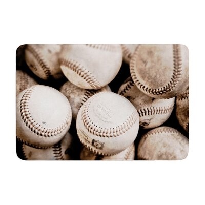 Debbra Obertanec on the Mound Baseball Memory Foam Bath Rug