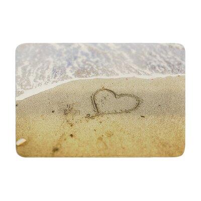 Debbra Obertanec Beach Heart Sand Coastal Memory Foam Bath Rug