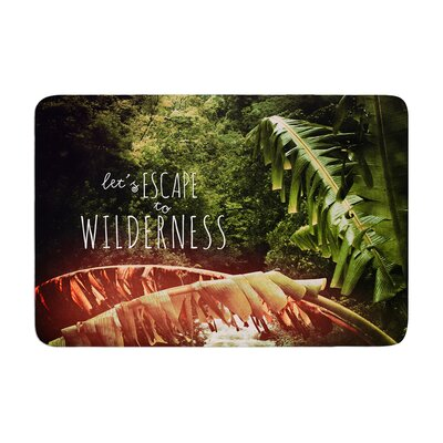 Deepti Munshaw Escape to Wilderness Forest Quote Memory Foam Bath Rug