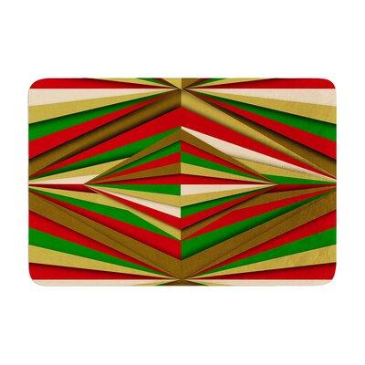 Danny Ivan Christmas Pattern Memory Foam Bath Rug